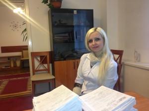 лікар - тепапевт стаціонарного відділення Гема Вікторія Ігорівна